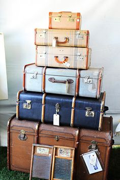 need to start this collection-vintage luggage is perfect