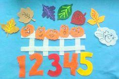New For Fall... 5 LITTLE PUMPKINS Flannel Felt Board Story Set With Freebies via Etsy