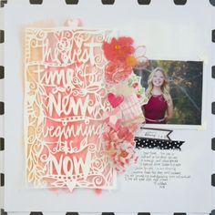 beautiful layout by Wilna Furstenberg. I just love her color scheme!