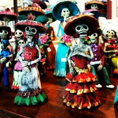 Day of the Dead Catrinas at Barrio Antiguo 725 Yale #HoustonTexas  (713)880 2105