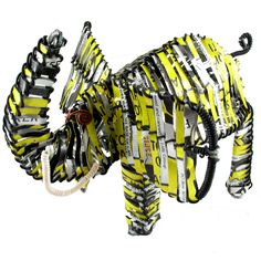 Elephant Recycled Tin Can