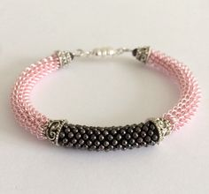 Coiled Pink Wire Bracelet Bangle Bracelet by RavensMoonDesigns