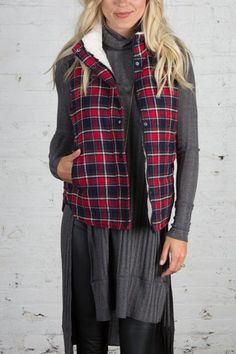 Mad for Plaid Sherpa Lined Vest