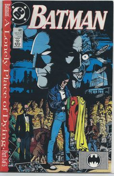 Batman Vol 1 #441 A Lonely Place of Dying Part 3 of 5 (November 1989) DC Comics Written by: Marv Wolfman Cover by: George Pere...