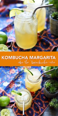 Kombucha Margarita - a lower sugar and healthier version of your favorite drink - the margarita