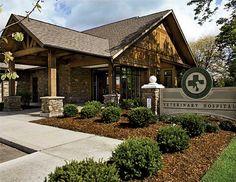 Exterior with signage Exterior Signage, Exterior Design, Hospital Signage, Optometry Office, Dog Hotel, Dental Office Design, Home Daycare, Hospital Design, Clinic Design