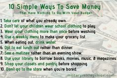 Forget the budget!  Make little changes in your life to #save #money!