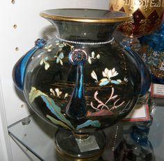 Bohemian Harrack Aquatic Vase  c 1890-1910  $595