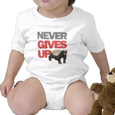 Honey Badger Never Gives Up Tshirt