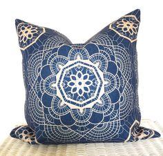 Bohemian cushion cover hippie pillow cover in blue