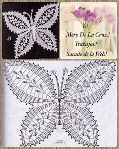 The best butterfly crochet pattern for your design Free Crochet Butterfly Patterns ⋆ Crochet Kingdom 77 With over 50 free crochet butterfly patterns to make you will never be bored again! Get your hooks out and let's crochet some butterflies! Crochet Butterfly Free Pattern, Crochet Lace Edging, Crochet Flower Patterns, Crochet Mandala, Crochet Chart, Thread Crochet, Crochet Flowers, Crochet Stitches, Free Doily Patterns
