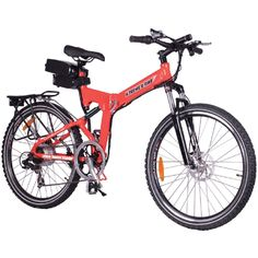 X-Treme X-Cursion Folding Electric Mountain Bicycle Bike Lithium Powered Red NEW