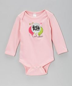 Take a look at this Pink '2014' New Year Balloon Bodysuit - Infant by Petunia Petals on #zulily today!  $15.99 from 38.00