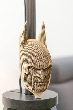 Batman - cardboard mask on the wall - 3D Puzzle DIY Kit Paper recycled sculptur wall decor Gift Diy kit original