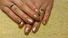 Satin and Rhinestones - Amore Ultima Gel #nail #nails #nailart