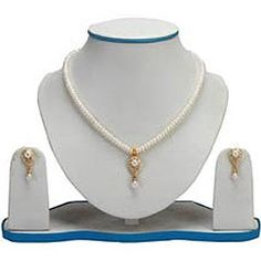 Designer Pearl Set with Necklace & Earrings to Bangalore, Karnataka Rs. 1705 / USD 28.42