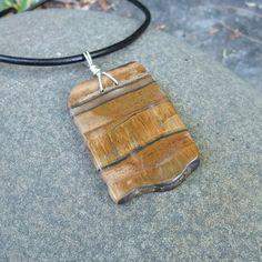 Large Tiger Iron pendant necklace