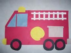 Directional Art for Community Helper Vehicles Kids Learning Activities, Fun Learning, Space Activities, Fire Truck Craft, Community Helpers Crafts, Truck Crafts, School Community, Community Workers, Petite Section