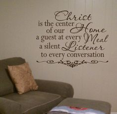Christ Is the Center Of This Home Vinyl Wall by designstudiosigns, $33.00
