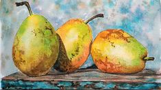 LIVE: Watercolor Pears 12:30pm Eastern Time FREE Painting Class! Sponsored by Jerry's Artarama http://www.jerrysartarama.com/ Supplies: Turner Watercolors (o...