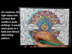 Coloring SuperVibrant Mandalas Tutorial By Cristina McAllister Pencil ArtColouringColoring BooksVibrant