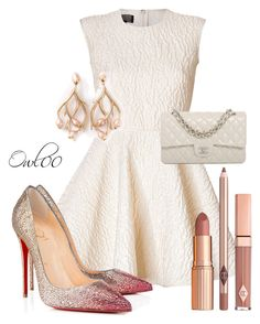 """""""."""" by owl00 ❤ liked on Polyvore featuring Giambattista Valli, Christian Louboutin, Chanel and Shaun Leane"""