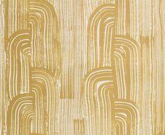 Kelly Wearstler Crescent by Lee Jofa - Gold / Ivory : Wallpaper Direct Gold Ivory Wallpaper, Paper Wallpaper, Luxury Wallpaper, Cream Wallpaper, Wallpaper Ideas, Gold Modern Wallpaper, Designer Wallpaper, Modern Wallpaper Designs, Art Deco Wallpaper