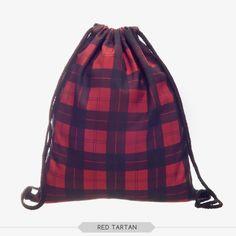 Drawstring bag factory in China England Summar Beach Bag Plaid Printing Bags  Women Mini Backpack Storage 10c66f9fdb36a