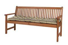 Banco 3 lugares ripado com futon garden - jatobá