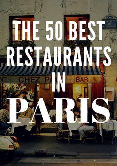 The 50 Best Restaurants in Paris ~ Conte Nast Traveler
