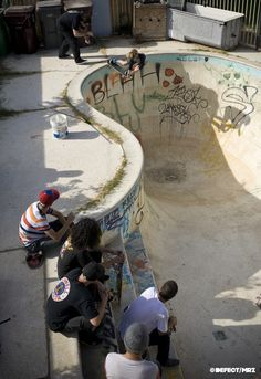 pool skateboarding