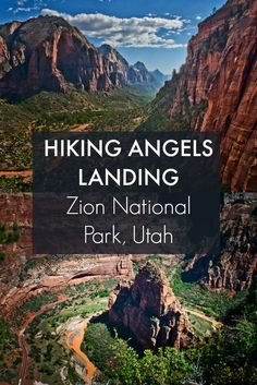 Hiking one of the most beautiful trails in the world: Angels Landing in Zion National Park. Be sure to include this hiking trail in your Utah travel plans. Wyoming, Nationalparks Usa, Places To Travel, Places To See, Camping Places, Monument Valley, Grand Parc, Us National Parks, To Infinity And Beyond