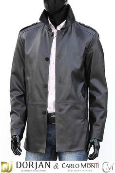 Płaszcz skórzany męski DORJAN BIL450 - Płaszcze skórzane