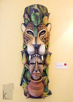 Borucan Masks Costa Rica - Selby Gardens - SW Florida Photographer African Masks, African Art, Amor Tattoo, Costa Rica Art, Aztec Symbols, Totem Tattoo, Tiki Totem, Wood Carving Art, Masks Art