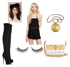 """""""Untitled #81"""" by daniera ❤ liked on Polyvore featuring Forever 21, Moschino, Chanel and Rimini"""
