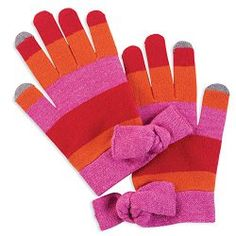 Mud Pie Lucy Bow Smart Screen #Gloves (Azalea)