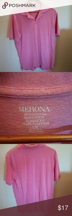 Merona light pink 3 button up shirt Extremely comfortable and worn once ! Merona Shirts Polos