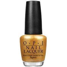 Opi Opi Nail Lacquer Nail Polish, Oy-Another Polish Joke | Bluefly.Com ($8.99) ❤ liked on Polyvore featuring beauty products, nail care, nail polish, gold, opi nail color, opi nail lacquer, peel nail polish and opi