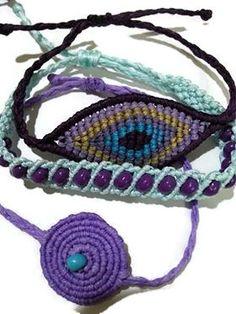 macrame bracelet Macrame Bracelets, Paracord, Crochet Necklace, Jewelry, Knots, Jewlery, Jewerly, Schmuck, Jewels