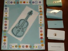 Violin practice game. Good for really young children starting out