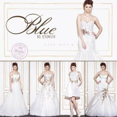 Enzoani - Blue, Fall 2014 collection, as seen on http://www.bride.ca/wedding-dresses/?GownTypeID=1&GownLabelID=139