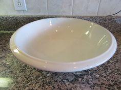 Large vintage white ironstone wash basin/bowl- H. Burgess Burslem (England)- solid, functional, light crazing, few small glaze errors on rim by HeathersCollectibles on Etsy