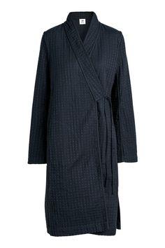 Длинная куртка-кимоно - Темно-синий - | H&M RU 1