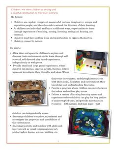 "Kallista Kindergarten: ""We view children as strong and powerful contributors to their own learning"" - Website portal ≈≈ Reggio Classroom, Preschool Classroom, In Kindergarten, Preschool Activities, Children Activities, Preschool Learning, Play Based Learning, Early Learning, Learning Centers"