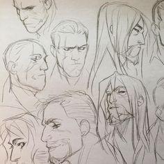 #sketch #art #daud #dishonored #overwatch #hanzoshimada #gabrielreyes