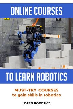 Want to learn robotics online? Here are 9 websites to help you gain coding skills specifically for the field of robotics and robotics engineering. Learn Robotics, Robotics Engineering, Robotics Projects, Computer Engineering, Stem Projects, Arduino Projects, Electronics Projects, Online Coding Courses, Online Websites