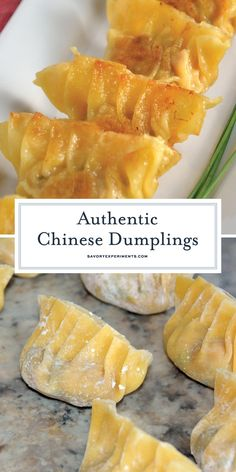 Authentic Chinese Dumplings is a recipe straight from a Chinese restaurant owner. - Authentic Chinese Dumplings is a recipe straight from a Chinese restaurant owner. Learn how to make - Vegetarian Chinese Recipes, Asian Recipes, Healthy Chinese, Easy Chinese Food Recipes, Oriental Recipes, Japanese Recipes, Asian Foods, Dumplings Chinois, Chicken Spring Rolls
