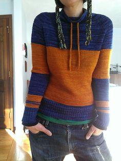 Women Color-Block Drawstring Necklline Vintage Winter Tops Source by kimcoch Pull Bleu, Pull Gris, Casual Sweaters, Vintage Sweaters, Sweaters For Women, Top Retro, Pull Sweat, Hoodie Pattern, Vintage Winter