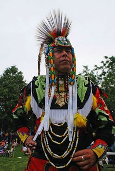this is how they dress up for a pow wow
