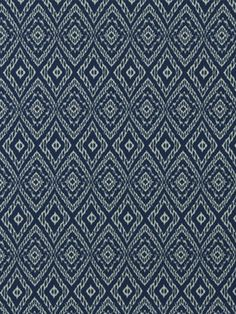 Blue White Ikat Upholstery Fabric by the Yard by greenapplefabrics, $29.00